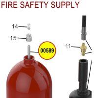 Amerex 00589 Downtube Aluminum 15 20 Carbon Dioxide