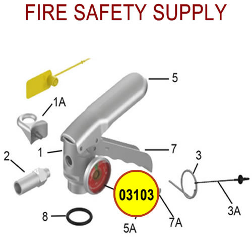 Amerex 03103 Gauge 195 Aluminum Dry Chemical Sales