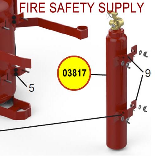 Amerex 03817 Cylinder Nitrogen 23 Assembly Red