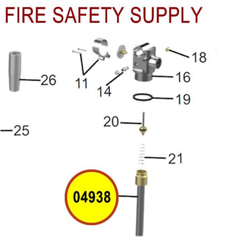 Amerex 04938 Downtube Assembly 150 BCF