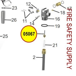 Amerex 05067 Valve Stem Assembly Brass 150