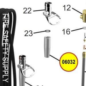 Amerex 06032 Nozzle .265 Wheeled Unit Anodized