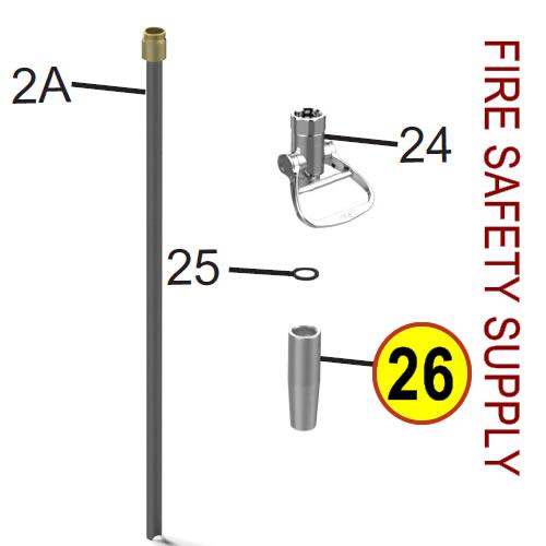 Amerex 06355 Nozzle .375 Wheeled Unit Anodized