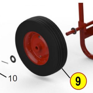 Amerex 06377 Wheel 12.5 Red with Hardware