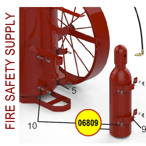 Amerex 06809 Cylinder Nitrogen 55 Assembly Red