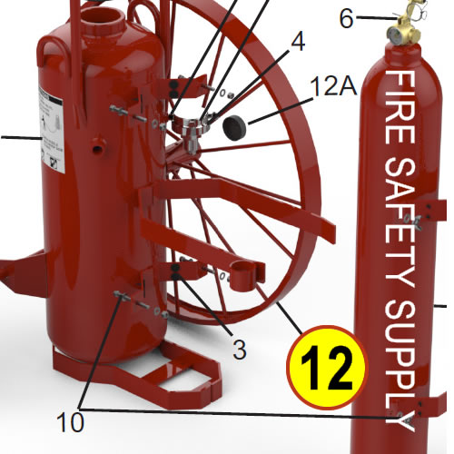 Amerex 07025 Wheel Assembly 36 x 2.5 Red