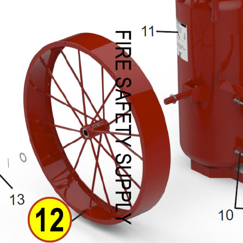 Amerex 07026 Wheel Assembly 36 x 6 Red