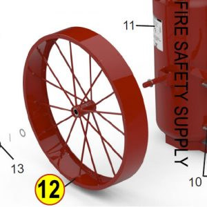 Amerex 07607 Wheel Assembly 36 x 6 Rubber Red