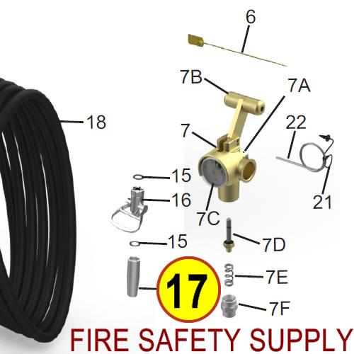 Amerex 08261 Nozzle .469 Wheeled Unit Anodized