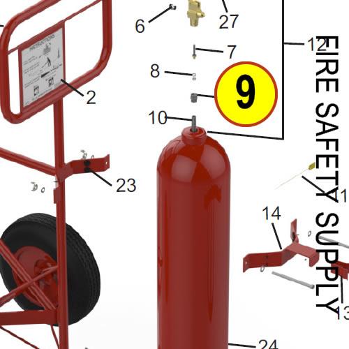 Amerex 09627 Retainer Aluminum Carbon Dioxide 50