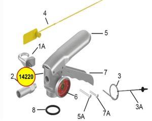 Amerex 14220 Bag Assembly Loop & Screw Aluminum Valve
