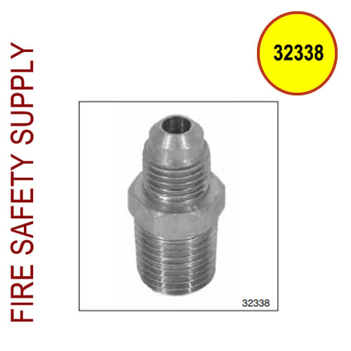 32338 Male Straight Connector, 7/16-20 x 1/4 NPT