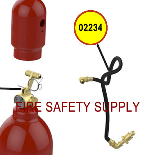 Amerex 02234 Hose Assembly 1/4 x 20 Nitrogen