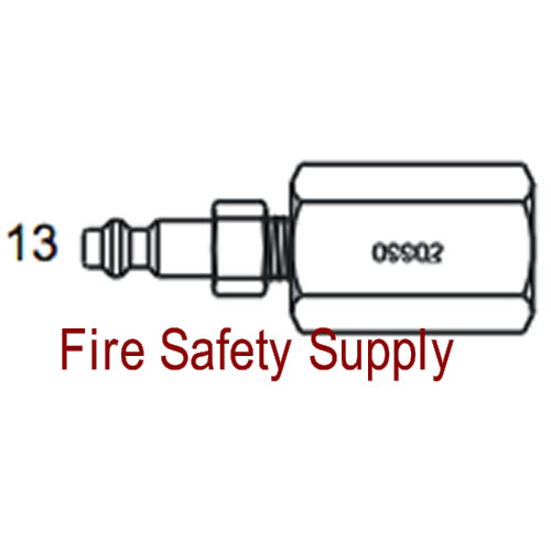 Amerex 09902 Adapter Assembly Recharge Carbon Dioxide Wheeled Unit