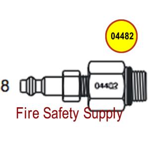 Amerex 04482 Adapter Assembly Recharge BCF Brass Valve