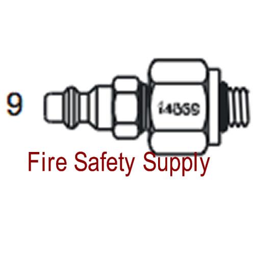 Amerex 14569 Adapter Recharge Halotron Aluminum Valve
