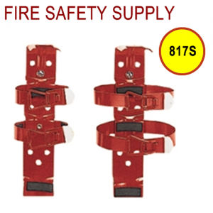 Amerex 817S 2.5 and 3 lb. Aviation Double Strap Bracket Red