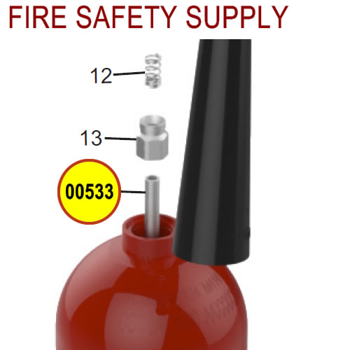Amerex 00533 Downtube Aluminum 5.0 Carbon Dioxide
