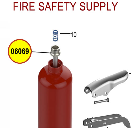 Amerex 03397 Downtube Assembly Aluminum 6.0 Dry Chemical