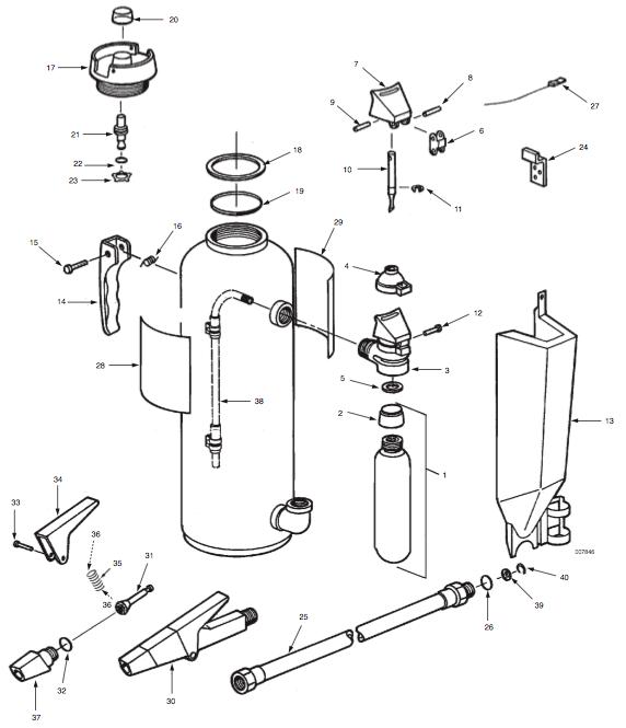 Spill Gun Applicator Parts