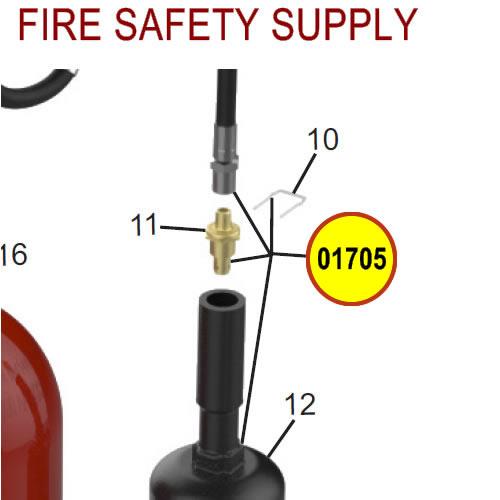 Amerex 01705 Hose & Horn 15 20 Carbon Dioxide