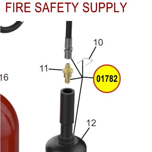 Amerex 01782 Hose & Horn 10 Carbon Dioxide