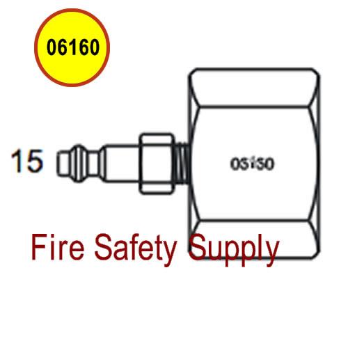 Amerex 06160 Adapter Assembly Fill 50 Valve