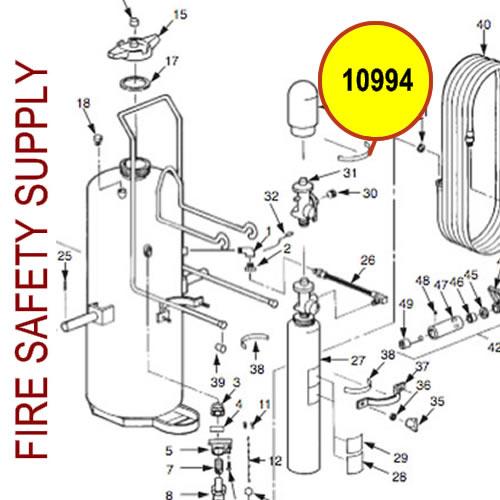 Ansul 10994 Label, QC Cylinder Valve