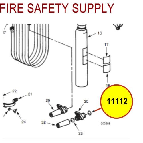 Ansul 11112 Gasket, HF-35 Nozzle, Valve to Hose