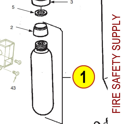Ansul 13193 RED LINE Nitrogen Cartridge (LT-10-R)