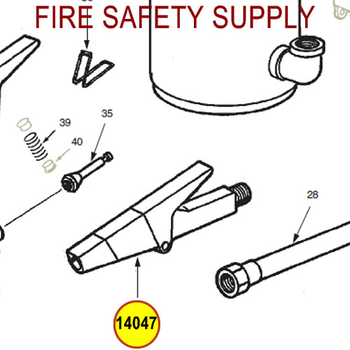 Ansul 14047 Red Line Nozzle Assembly