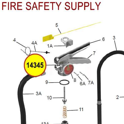 Amerex 14345 Valve Assembly Wet Chemical 260/262 Sales