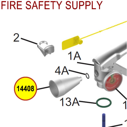 Amerex 14408 Nozzle .166 Halotron