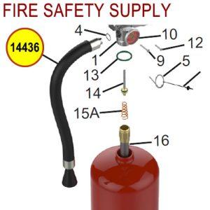 Amerex 14436 Hose Assembly 1/2 Brass .247 11