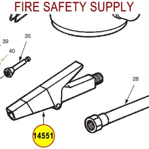 Ansul 14551 Red Line Nozzle Assembly
