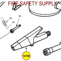 Ansul 14706 Red Line Nozzle Assembly