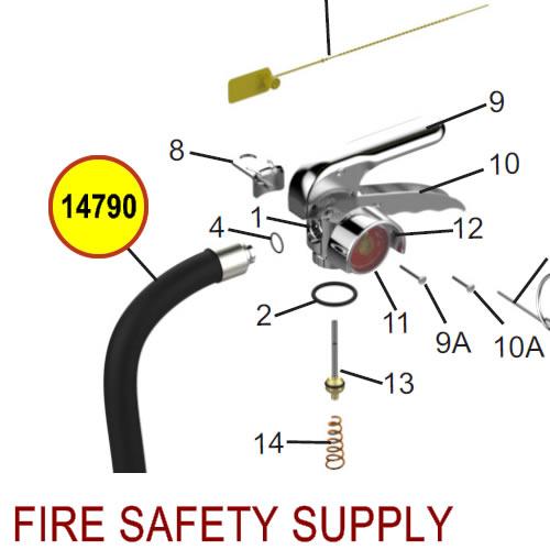 Amerex 14790 Hose Assembly 1/2 Brass .166 6 Kg