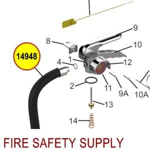 Amerex 14948 Hose Assembly 1/2 Brass .180 20/30