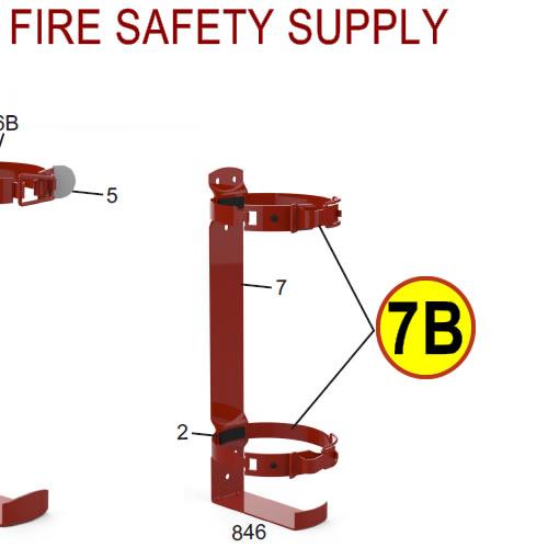 Amerex 15381 Bracket Strap Assembly 846 Red