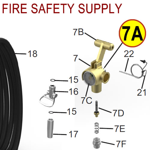 Amerex 16516 Disc Safety Assembly Nitrogen