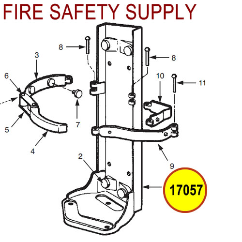 Ansul 17057 Red Line Frame Assembly