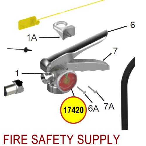 Amerex 17420 100 psi Pressure Gauge, SS Tube