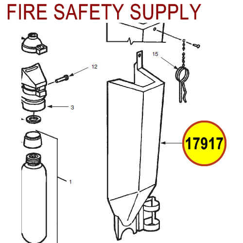Ansul 17917 Red Line Cartridge Guard Assembly