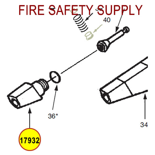 Ansul 17932 Red Line Nozzle Tip