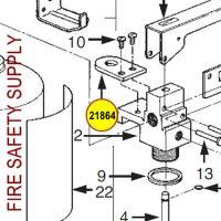 Ansul 21864 Cleanguard Valve Assembly Conversion Hanger