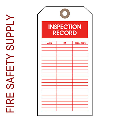 Ansul 2364 Tag, Inspection
