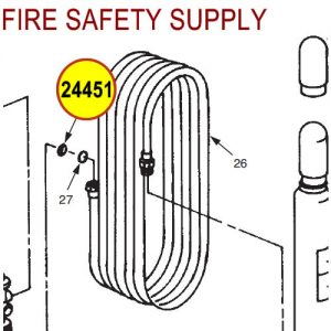 Ansul 24451 Red Line Hose, -65°F, with Couplings Assembly