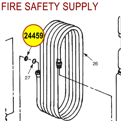 Ansul 24459 Red Line -65°F Hose Assembly with Couplings