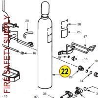 Ansul 24708 Cylinder, Nitrogen, 220-B, CR