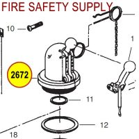 Ansul 2672 RED LINE Dome Assembly and Fill Cap (5)